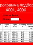 Програма підбору 4001, 4006
